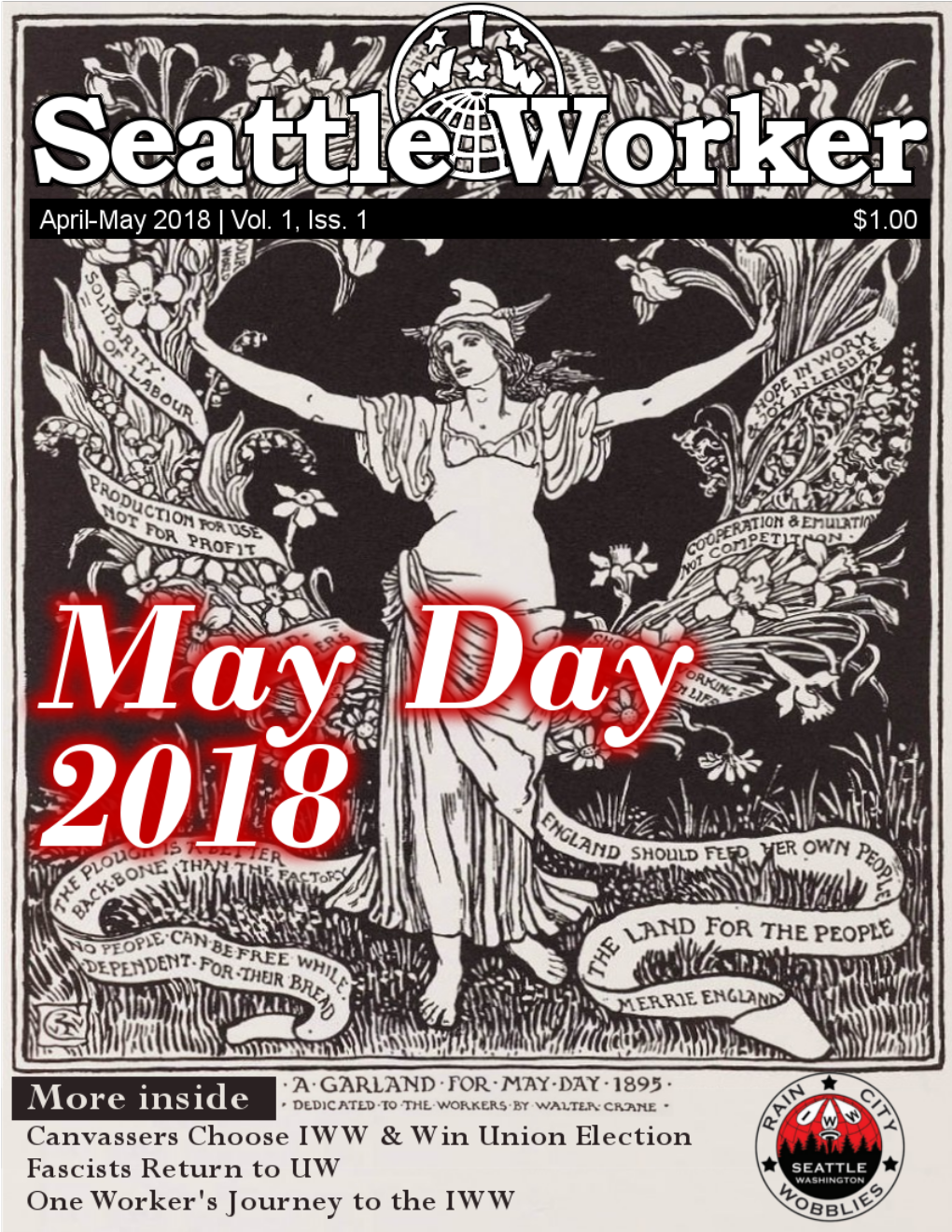 Seattle Worker first issue for May Day 2018!